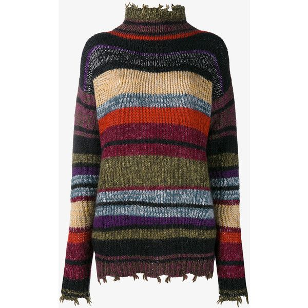 Etro Wool Alpaca Mohair Blend Stripe Sweater ($745) ❤ liked on Polyvore featuring tops, sweaters, etro sweaters, holiday sweaters, long sleeve tops, striped sweaters and long sleeve jumper