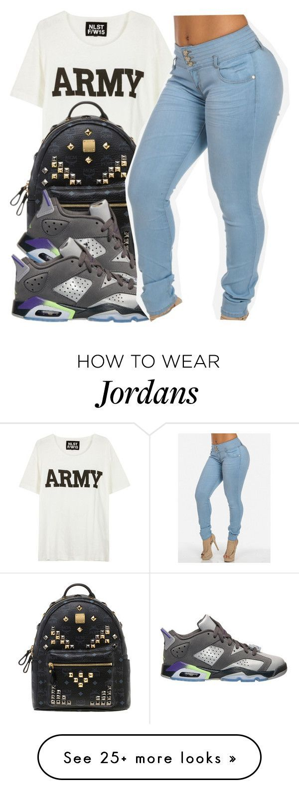 """~ Kiara"" by the-real-queens on Polyvore featuring NLST, MCM and Retrò"