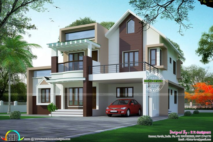 Design Elevation Of Front Parapet Wall : Parapet wall designs google search house elevation