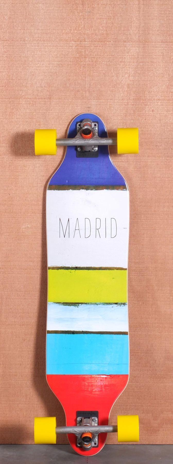 Madrid 36 Paint Stripes Longboard Complete