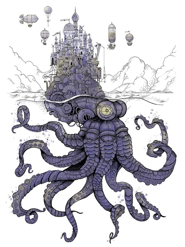 370 best octopus and squid illustration images on Pinterest