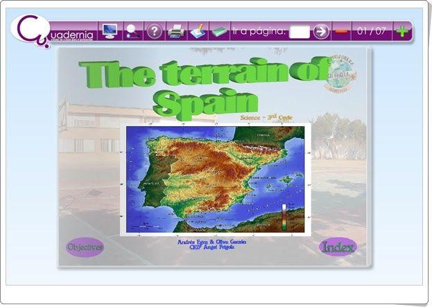 The terrain of Spain (Social Science de 6º de Primaria)