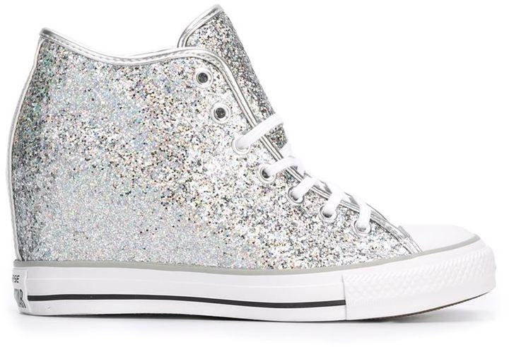 Converse high top concealed wedge sneakers