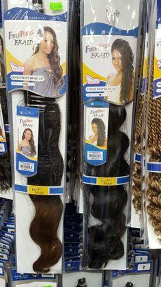 FreeTress Braiding Hair - Curl Patterns Gentle Wave and Loose Deep Bulk