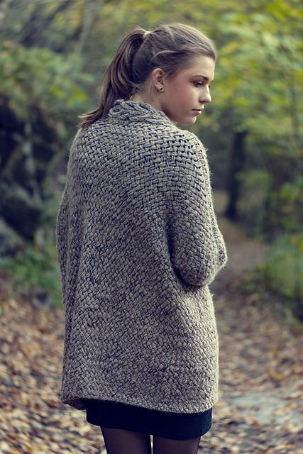 Dreamy Weave Cardigan Pattern By Katrine The Happy