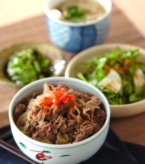 牛丼」の献立・レシピ - 【E・レシピ】料理のプロが作る簡単レシピ ... 牛丼の献立