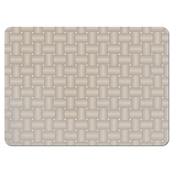 Uneekee Intertwined Brown Placemats (Set of 4) (Intertwined Brown Placemat) (Polyester, Geometric)
