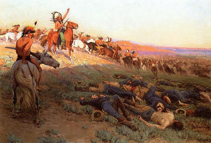 Custer's Last Stand Painting by Richard Lorenz