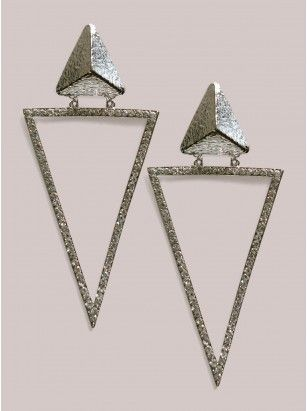 Kesha Earrings in Silver