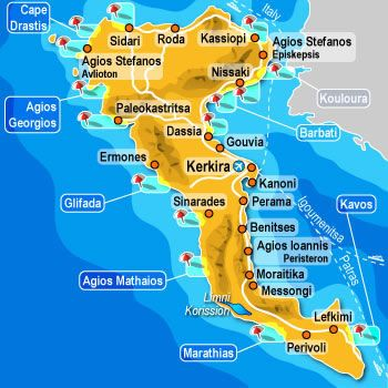 Greece Corfu Map (Small)