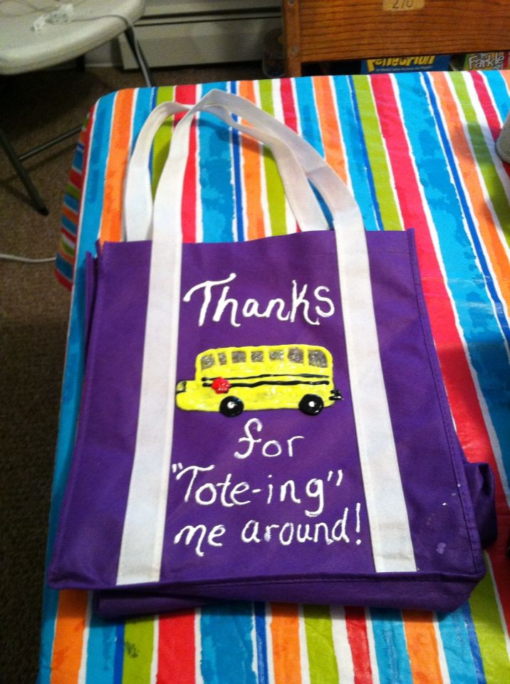 Bus Driver End of School Year Gift