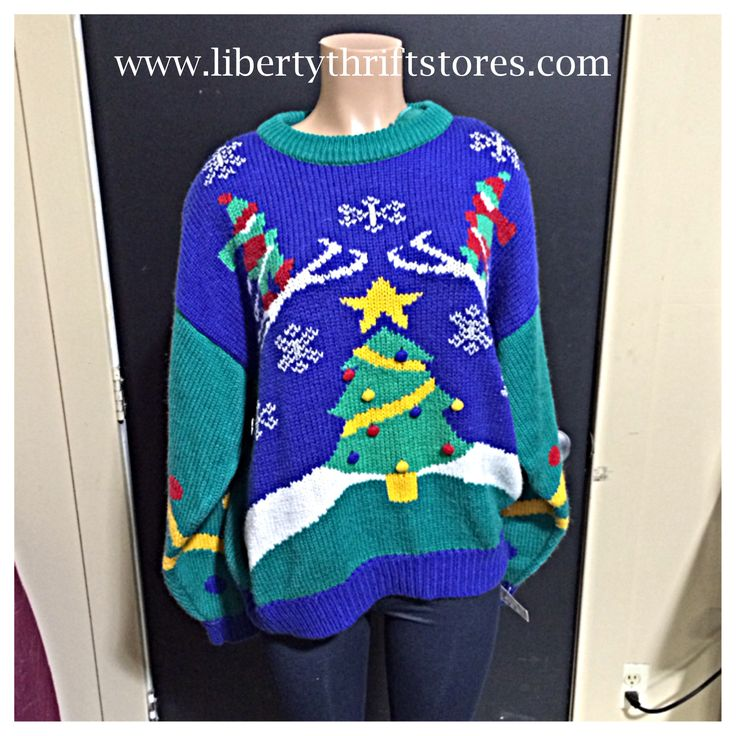 Pin by Liberty Thrift Stores on Ugly/Christmas Sweaters! | Pinterest