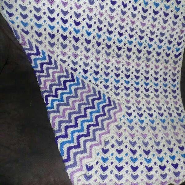 Free Crochet Pattern For Reversible Ripple Afghan Pakbit For
