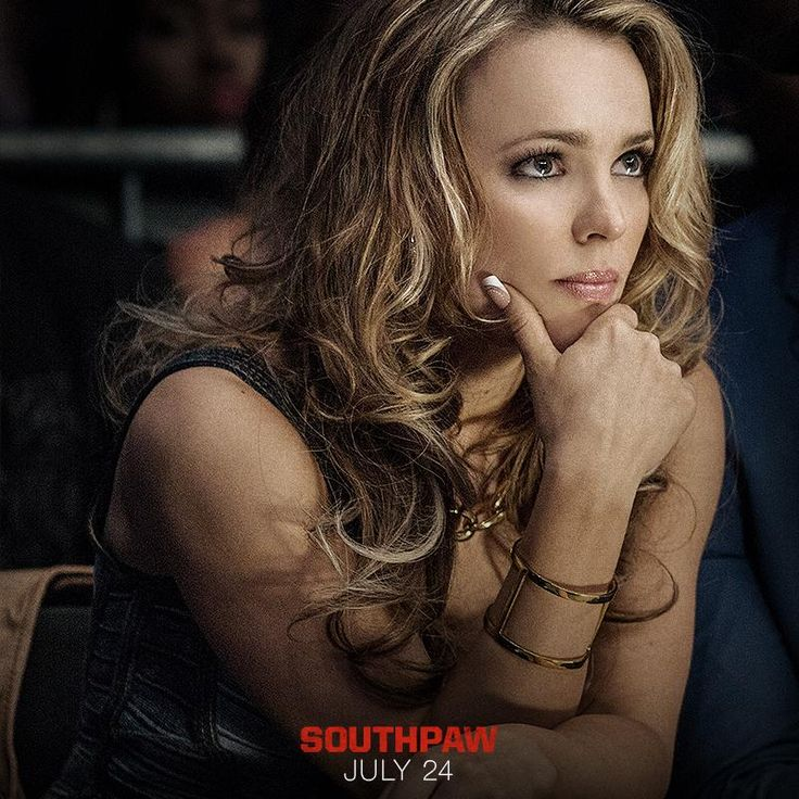 Maureen Hope is more than the muse, she is the foundation. Watch Rachel McAdams in #Southpaw THIS FRIDAY!
