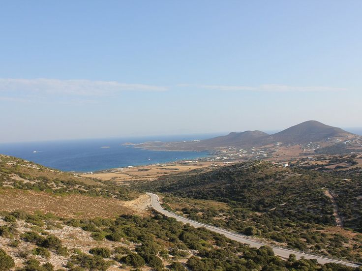 The mountainous landscape of Antiparos.