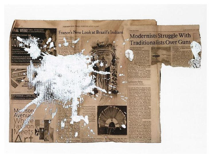 Paul Sietsema - Modernist Struggle 2008 Ink and enamel on paper 32 x 42 x 1 1/2 inches; 107 x 81.5 x 4 cm
