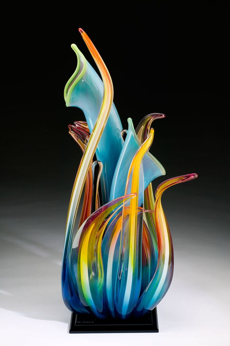 R Strong Glass - I have a piece of his work in my gallery that is very similar. Gorgeous!