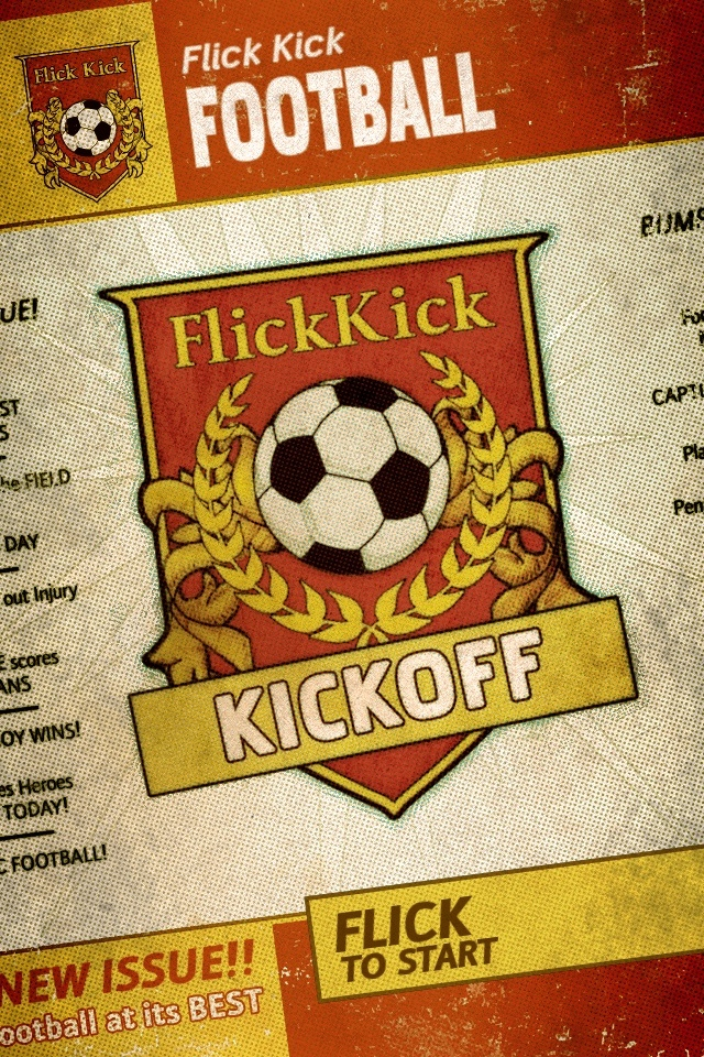 Kick Flick Football / PikPok  Very effective trendy retro styling. Reminiscent of old comics.