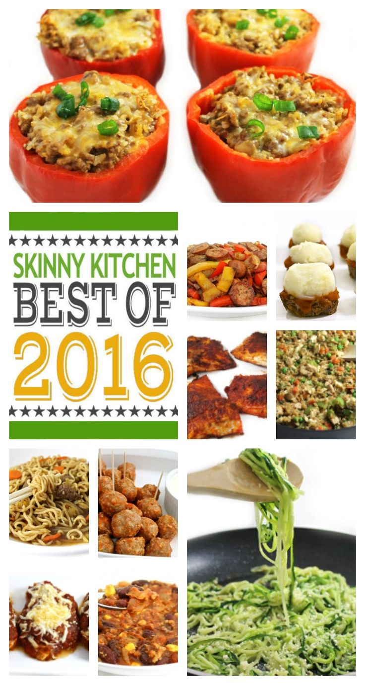 I'm sharing Skinny Kitchen's Top 10 Most Popular Recipes of 2016! Have fun Skinny cooking! #smartpoints http://www.skinnykitchen.com/recipes/top-10-favorite-recipes-of-2016/