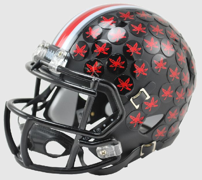 Ohio State Buckeyes Riddell Mini Speed Helmet - Satin Black