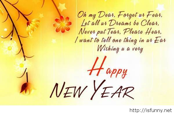 Happy new year dear love message poem funny picture