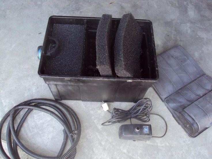 Vijverfilter + pomp + uvc lamp. 9 watt inclusief filter materiaal.  Heeft u intresse mail dan naar: