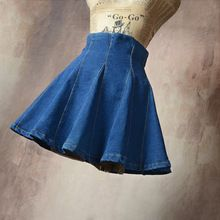 2017 sexy denim saia plissada saias das mulheres estilo Coreano feminino escola de cintura alta tutu mini saias curtas calças de brim saia jupe femme(China (Mainland))