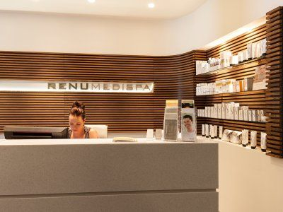 Renu Medispa combines the most advanced cosmetic enhancement procedures in a warm, relaxing environment. Their reception reflects that.