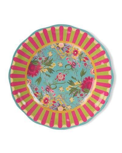 972002f6dc6f MacKenzie-Childs Florabundance Melamine Dinner Plates
