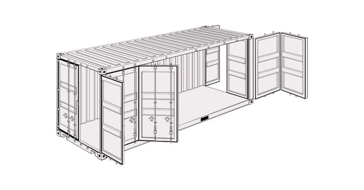 20' Side Door Container kaufen bei LOTUS Containers