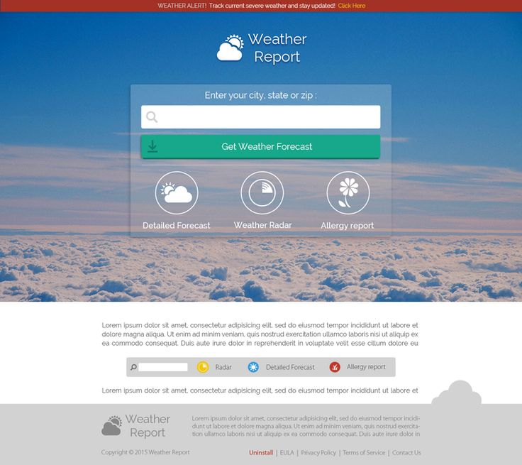 1 Page Weather Site by Andrej B.
