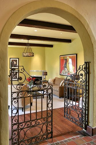 Wrought Iron Gate Indoors - Cool!