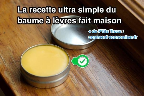 Besoin d'un baume à lèvres pour vos lèvres gercées et abîmées ? Après avoir essayé cette recette de baume à lèvres maison, vous n'aurez plus jamais envie d'en acheter !  Découvrez l'astuce ici : http://www.comment-economiser.fr/recette-super-simple-baume-levres-fait-maison.html?utm_content=bufferdba67&utm_medium=social&utm_source=pinterest.com&utm_campaign=buffer