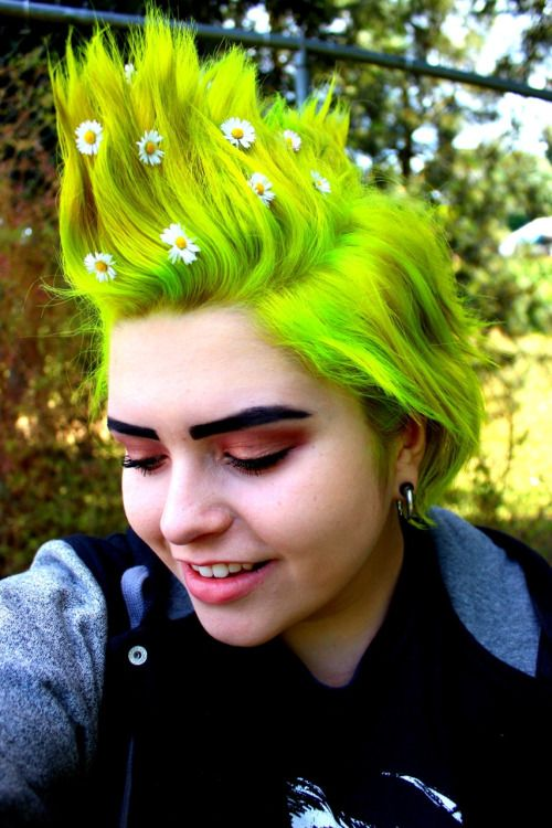 blackdelilah13's MANIC PANIC® Electric Lizard hair dye! More