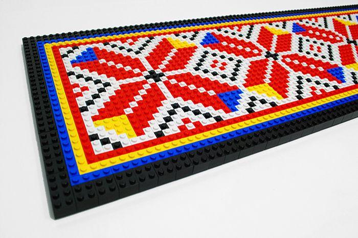 Creative Brick brau banatean Designist 2 Creative Brick: brâuri decorative cu motive tradiționale din piese LEGO