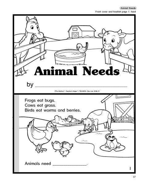 animal needs booklet booklet first grade science animals. Black Bedroom Furniture Sets. Home Design Ideas