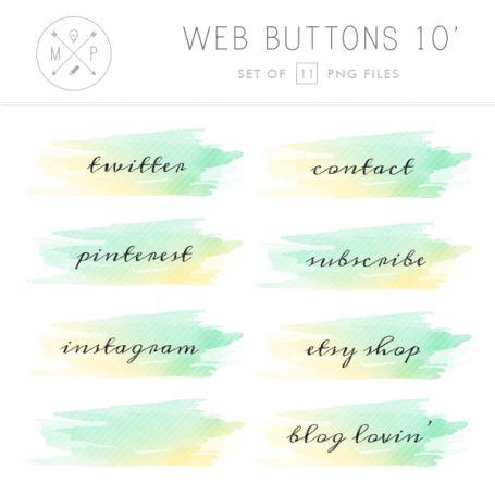 Watercolor Social Media Blog