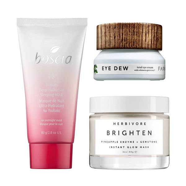 """When You're Hungover... - """"After a night of cocktail indulgenceyour skin looks dehydrated and fatigued. Reach for a face mask to restore the glow to your complexion. My secret to a healthy glow is multimasking. I use a brightening mask on the high points of my face, vitamin A on my dark circles and a hydrating mask on the rest of my face."""""""