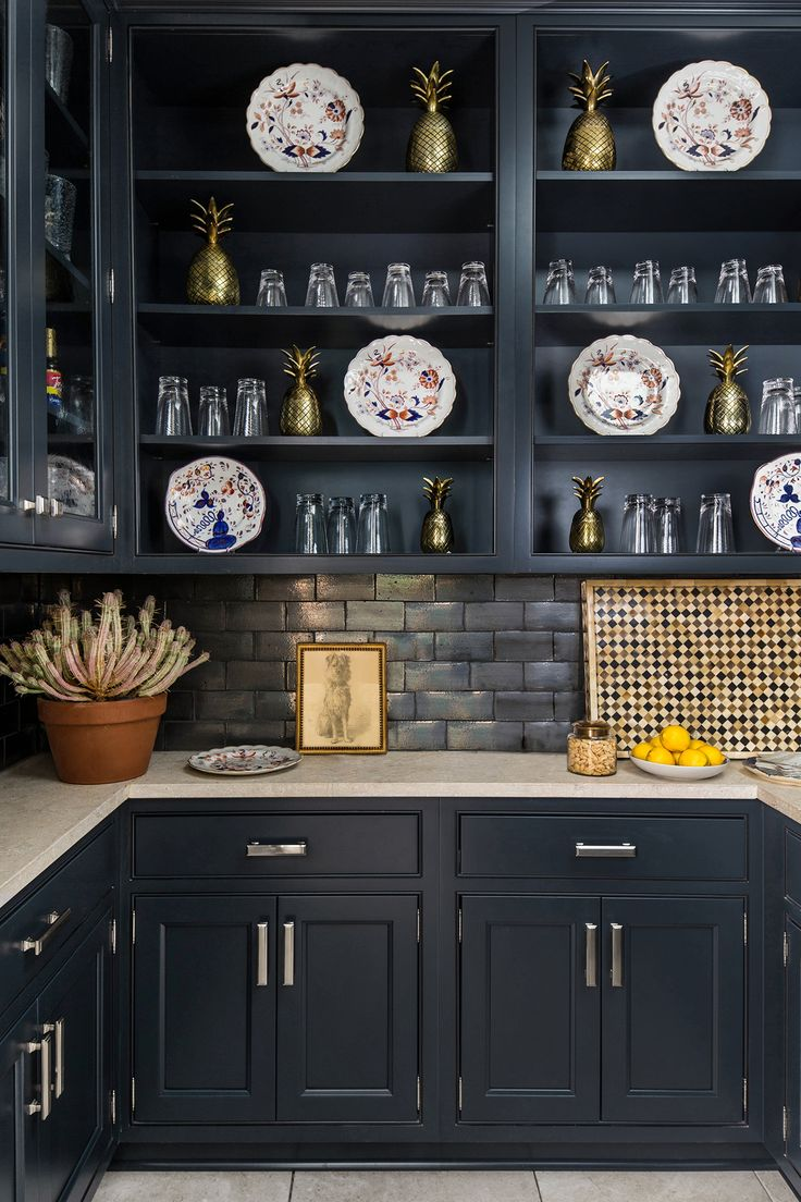 Navy Blue Wellborn Cabinetry In The Wet Pantry Of The 2015 Southern Living  Idea House