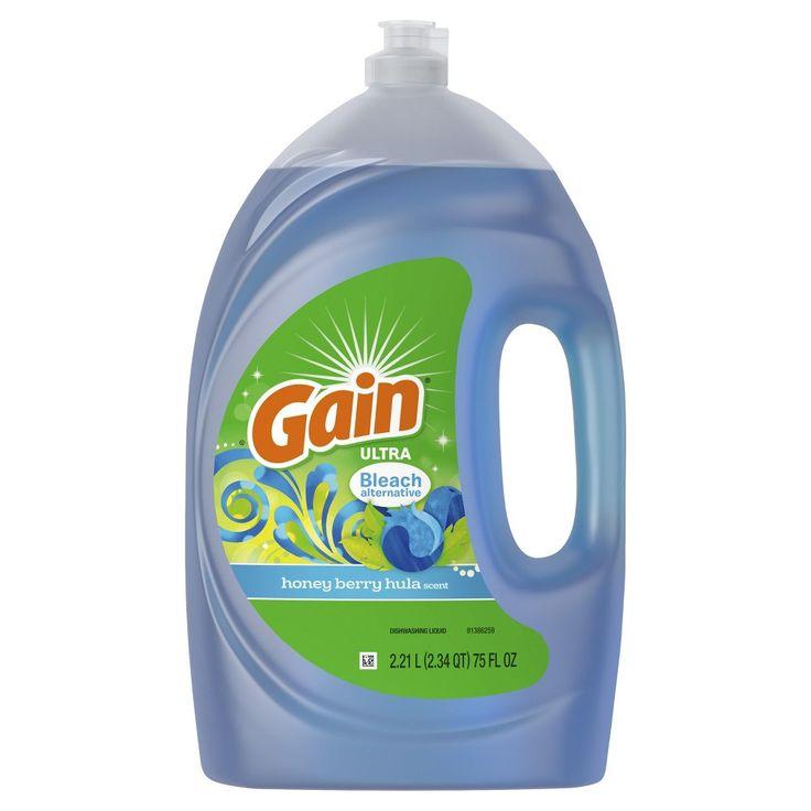 Gain Ultra Bleach Alternative Dishwashing Liquid Dish Soap Honey