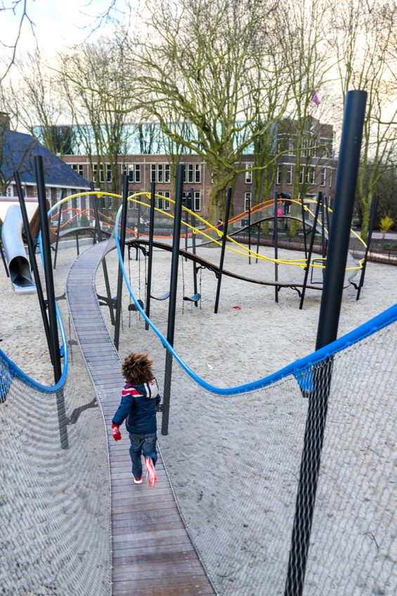 """Roller coaster"" play structure in Amsterdam"