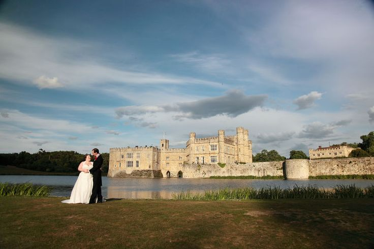 Leeds Castle portrait shot with castle in background