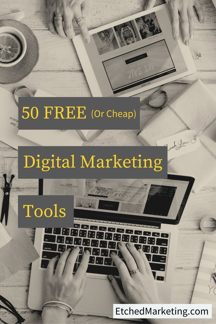 50 free or cheap tools that will boost your digital marketing success.