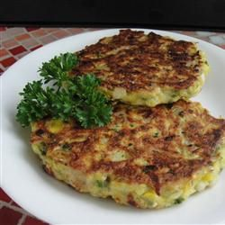 Yellow Squash Patties, except I would replace the squash with spinach because I hate squash!!!!  : )