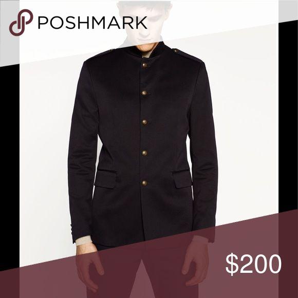 Military Jacket.. Black Zara Man Military Blazer...1 in blue, 1 in black Zara Suits & Blazers Sport Coats & Blazers