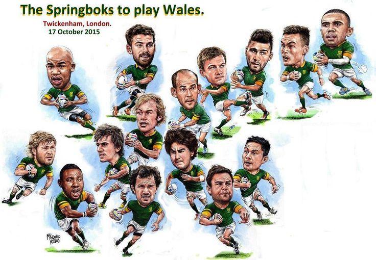 Springboks vs Wales: Mynderd Vosloo's team portrait - Rugby World Cup 2015