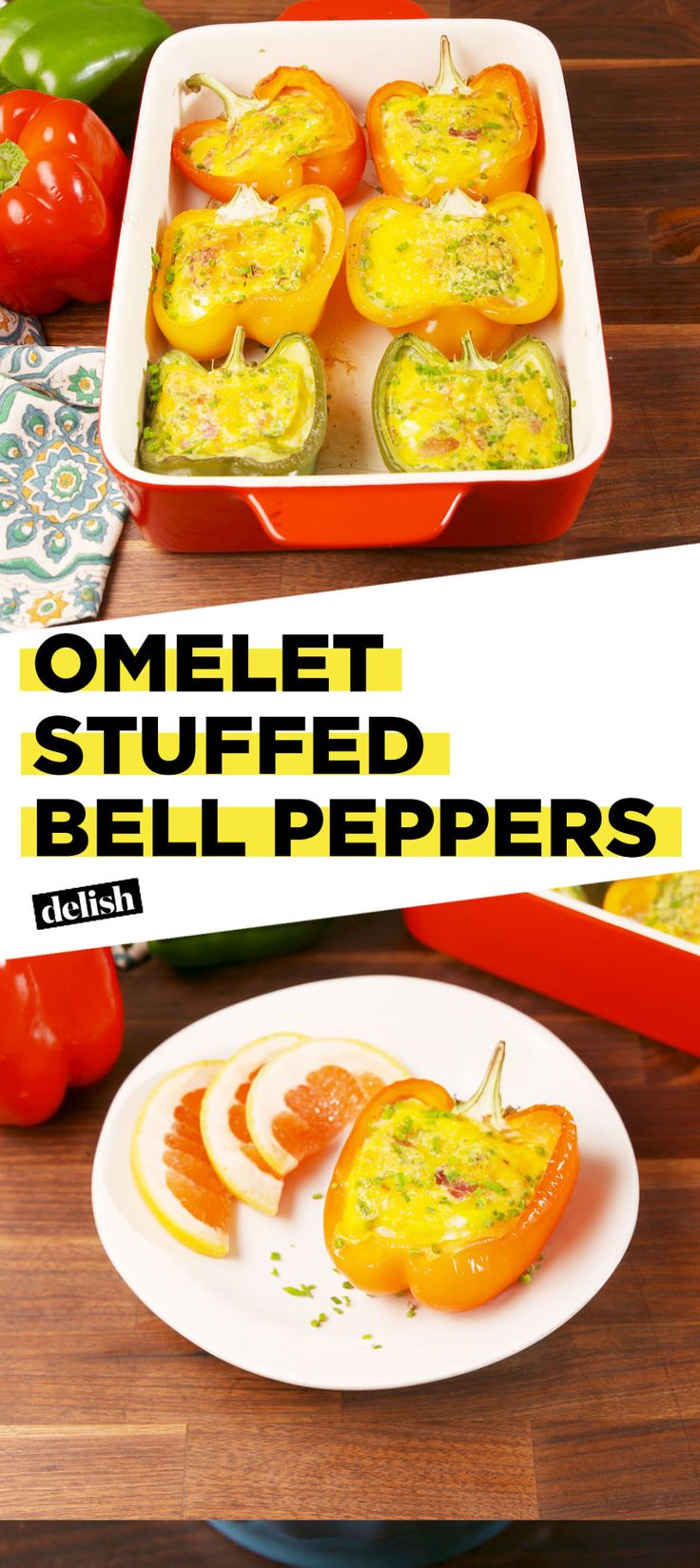 Remix Your Breakfast With Omelet Stuffed Peppers