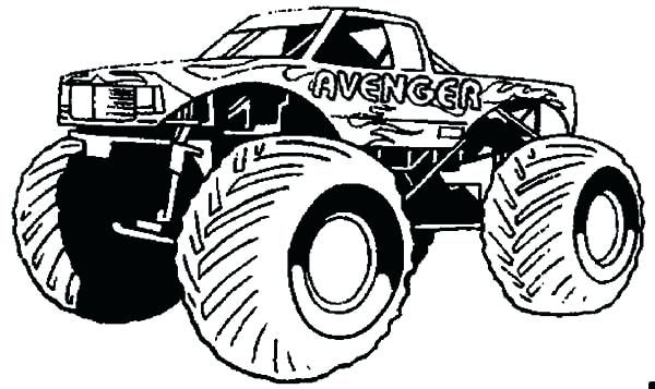 Monster Truck Coloring Pages In 2020 Monster Truck Coloring Pages Cars Coloring Pages Truck Coloring Pages
