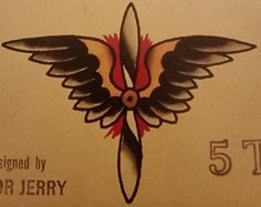 Traditional/old school tattoo, sailor jerry, wings, nautical