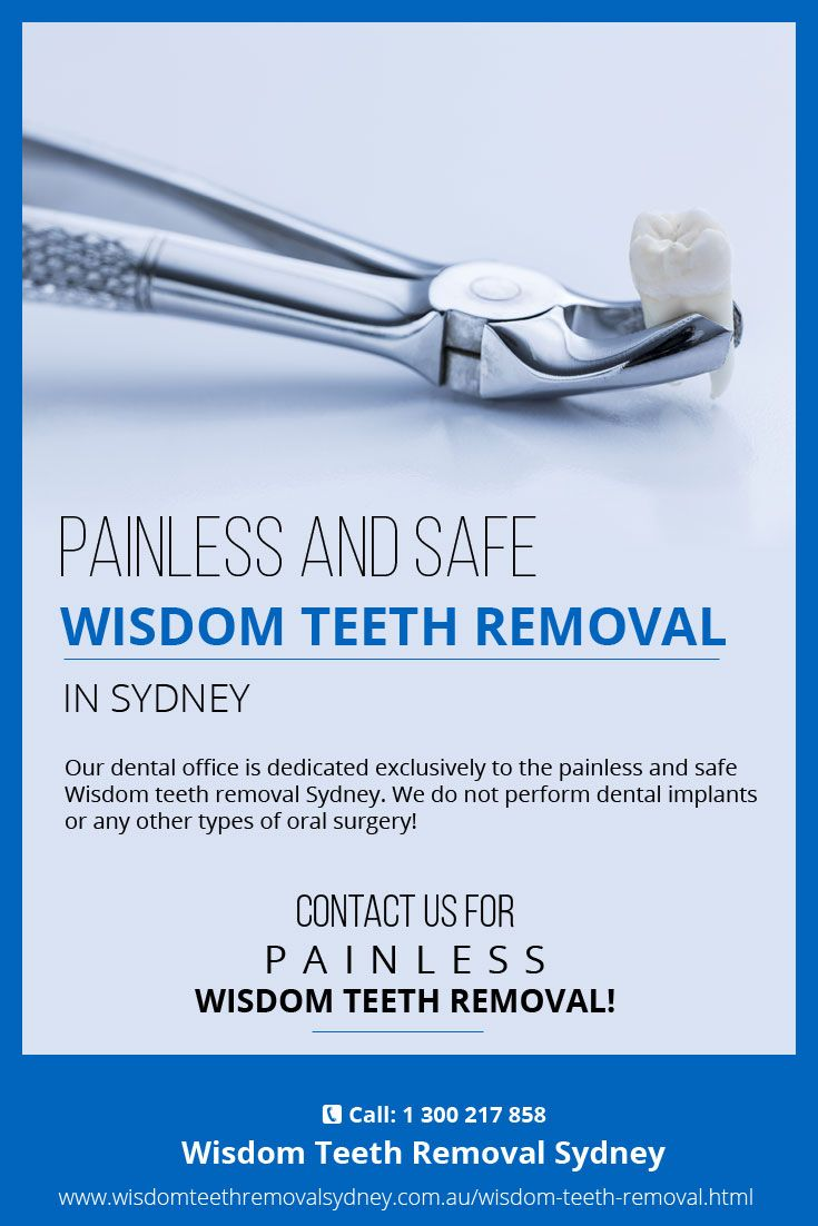 Our dental office is dedicated exclusively to the painless and safe #Wisdom_teeth_removal_Sydney. We do not perform dental implants or any other types of oral surgery!